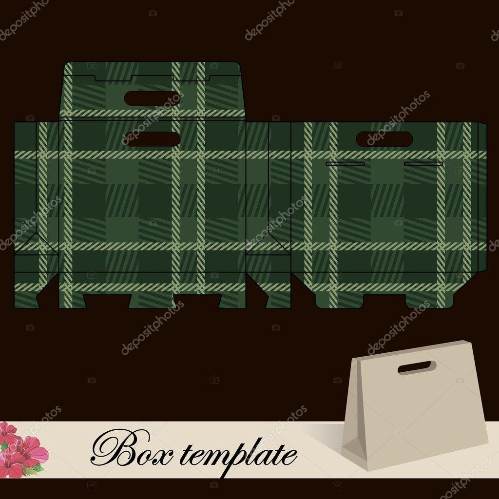 Geschenk-Box-Vorlage — Stockvektor © Marchi #43379913