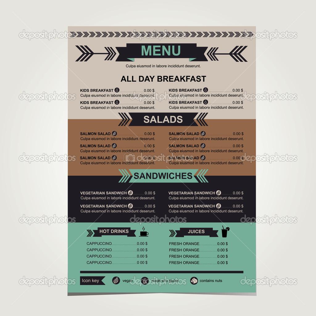 restaurant menu template design stock vector marchi 43379921