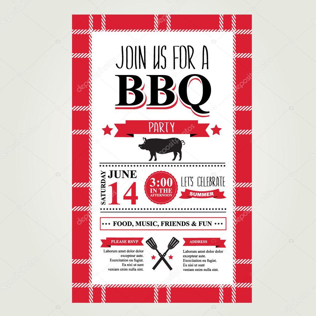 Favoriete uitnodiging voor barbecue — Stockvector © Marchi #45026215 @IG71