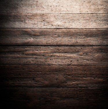 Dark brown old wooden texture background stock vector