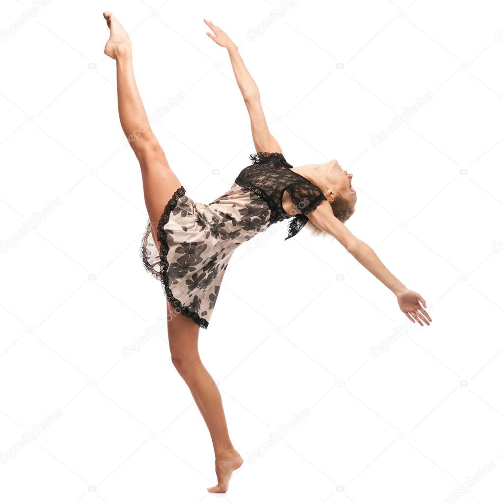 f70ae4dc2cc2 dancing girl — Stock Photo © karpenyuk  49713905