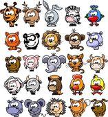 Photo Cartoon vector animals