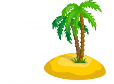 Vector tropical palm trees
