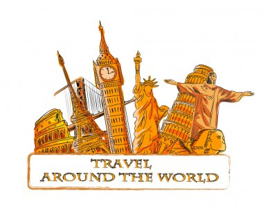Travel around the world, background