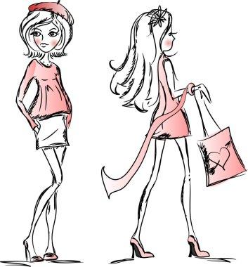 Trend vector girls