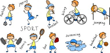 Cartoon sport icon