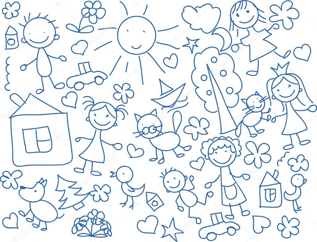 Disegni Per Bambini Vettoriali Stock Virinaflora 14074018