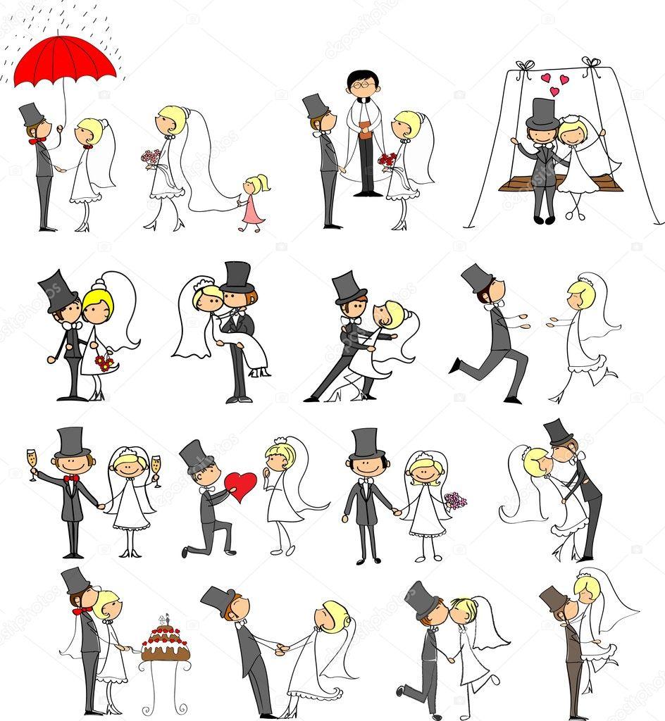 Cartoon wedding pictures