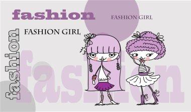 Fashion cartoon girl