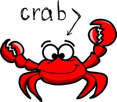 Cartoon crab, vector illustration