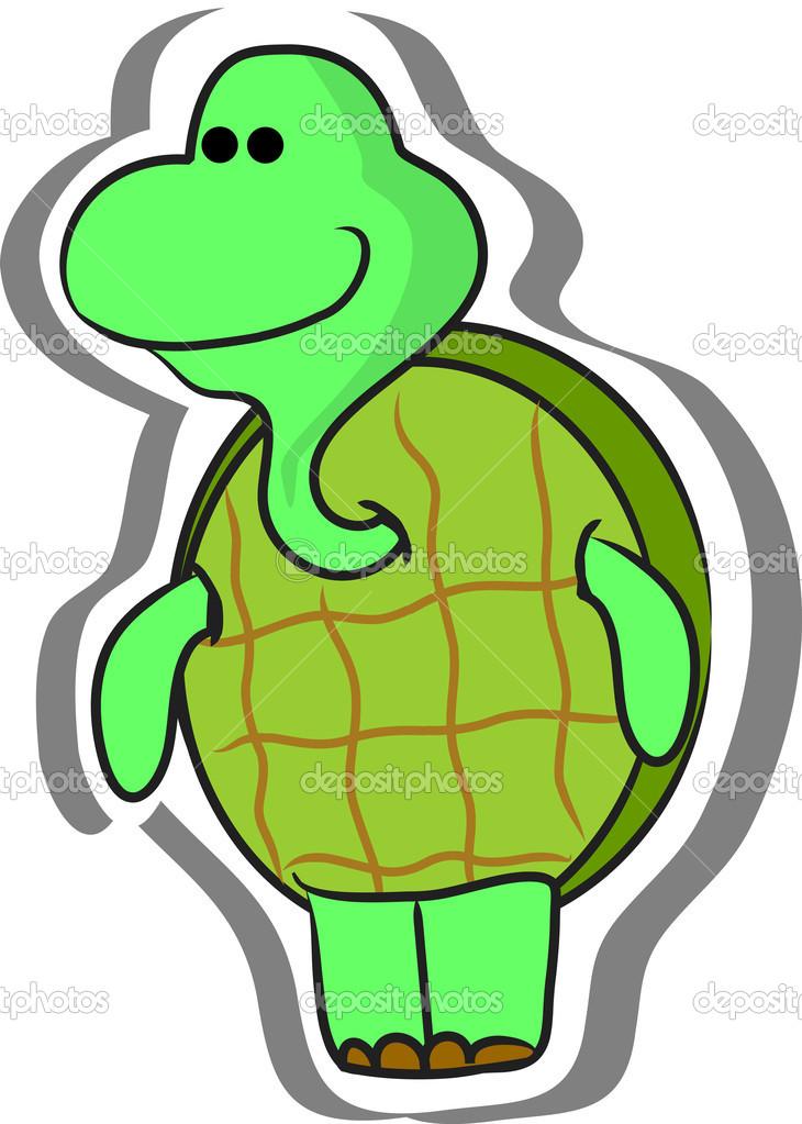 Cartone animato tartaruga — vettoriali stock virinaflora