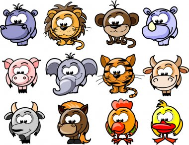 Cartoon vector animals stock vector