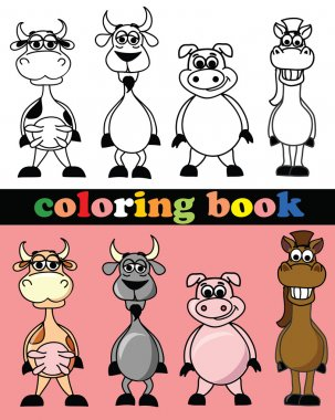 Coloring book of animals