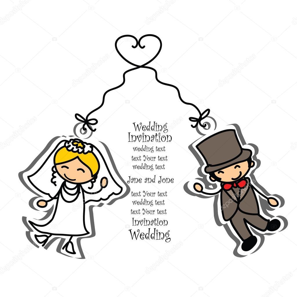 Cartoon Hochzeit Bild Stockvektor C Virinaflora 23217414