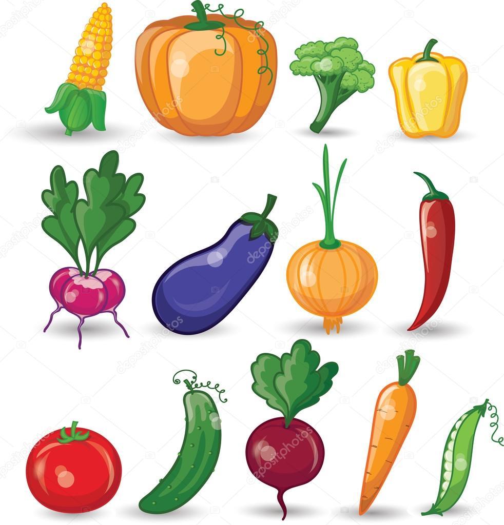 Cartone animato verdure — vettoriali stock virinaflora
