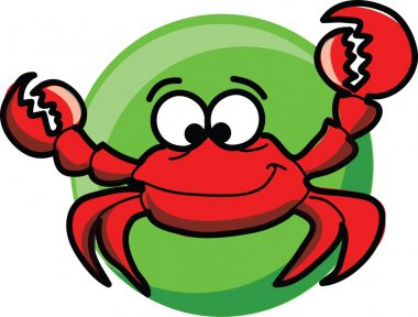 Cartoon cute vector crab