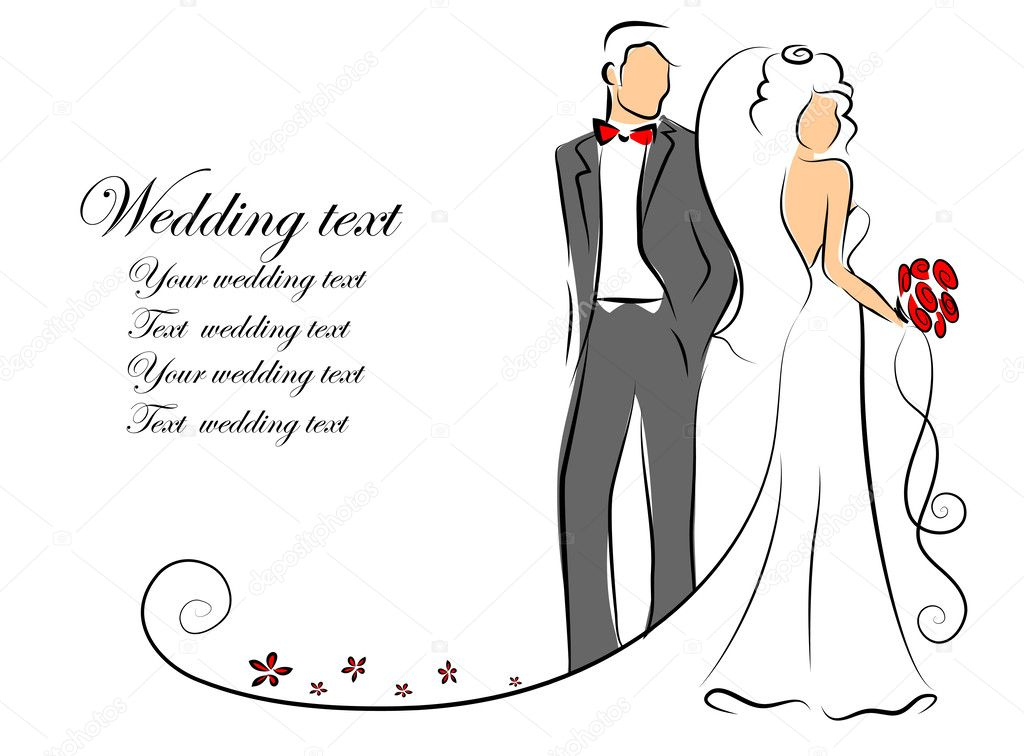 Bride And Groom Wedding Invitation as perfect invitations example