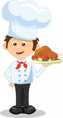 Cartoon character - cute cook