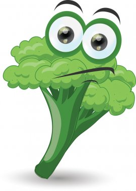 Cartoon funny broccoli