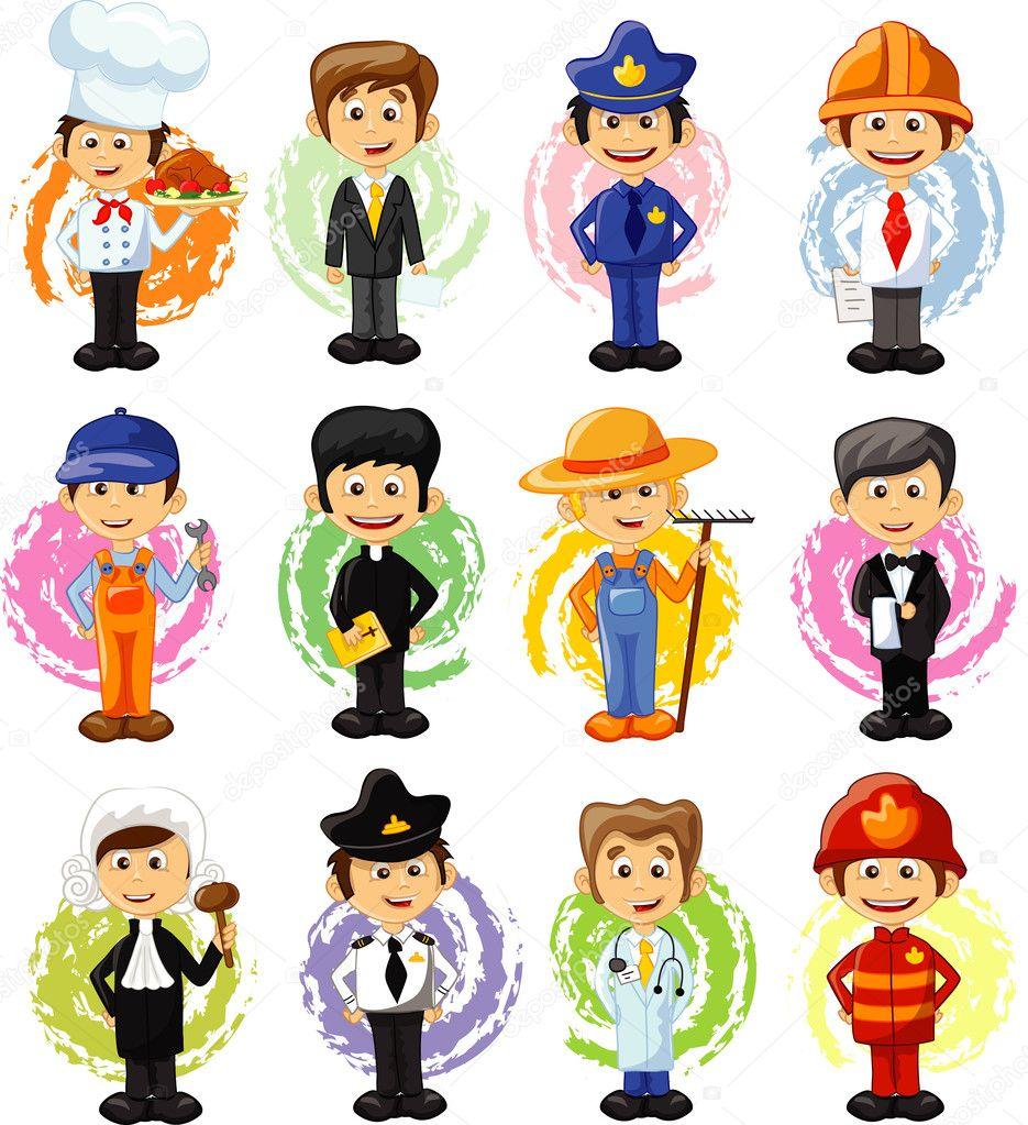imágenes profesiones animadas personajes de dibujos animados de