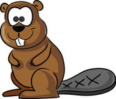Photo Cartoon cute beaver