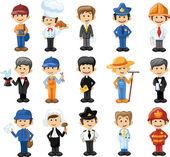kreslené postavičky z různých profesí