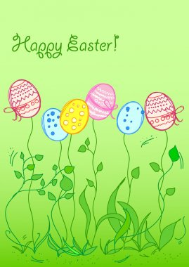 Easter background card