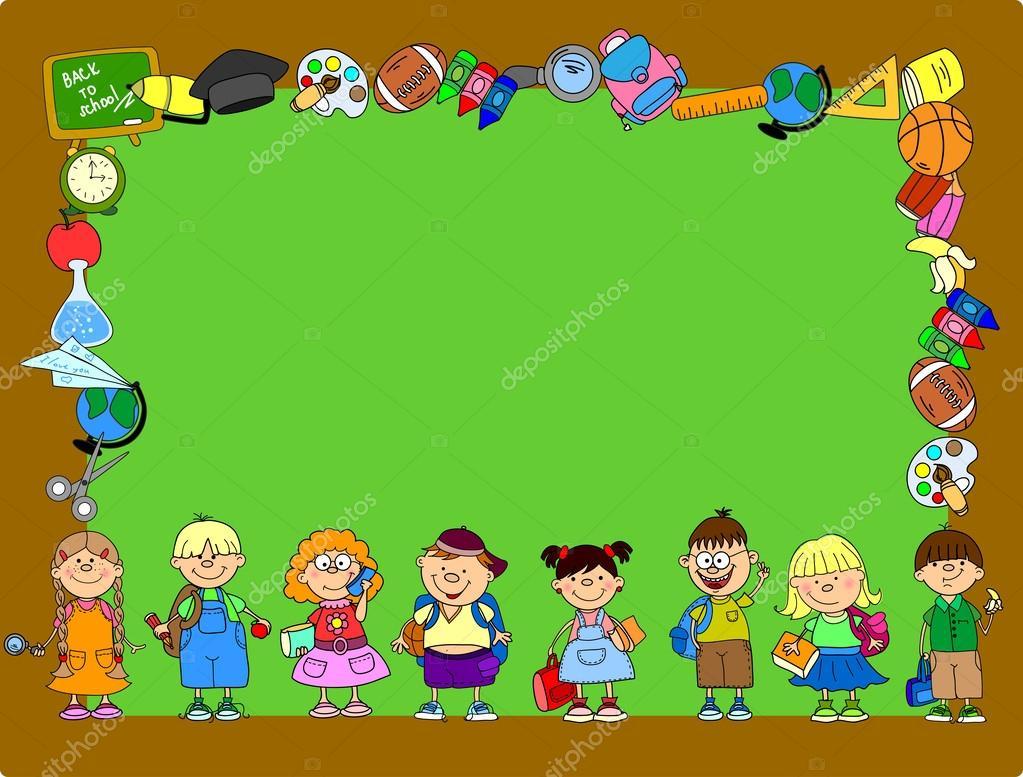 Gli Studenti Dei Cartoni Animati E Materie Scolastiche Banner