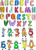 Photo The alphabet and numbers for your design
