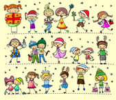 Fotografie Cartoon Christmas children