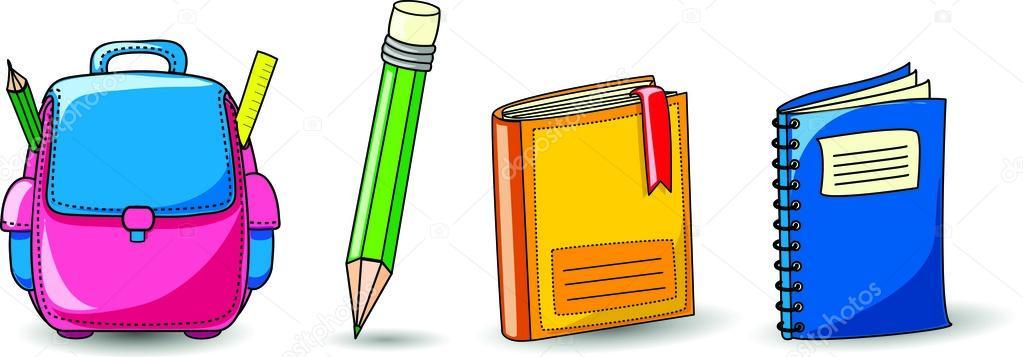 Dos Desenhos Animados, Mochilas Escolares, Lápis, Livros