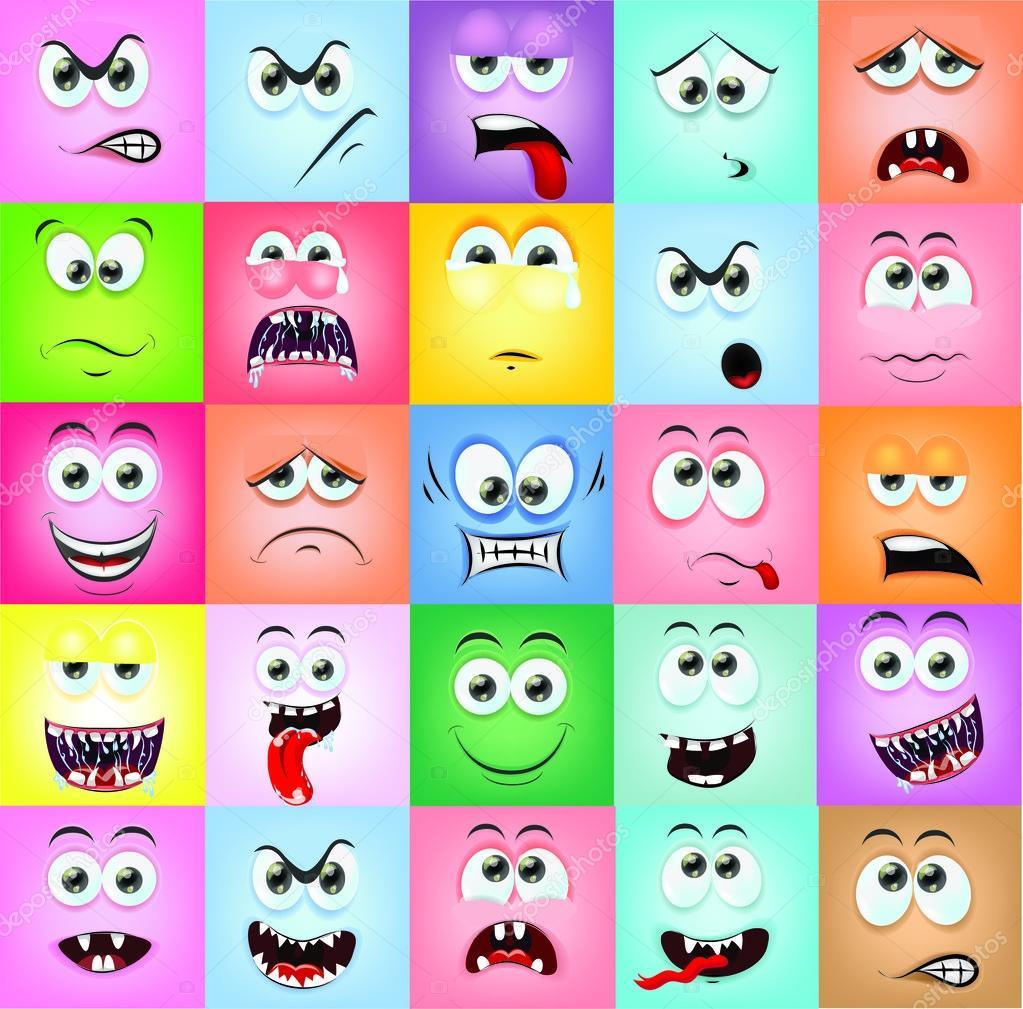 Imágenes Emociones Animadas Caras De Dibujos Animados Con Las