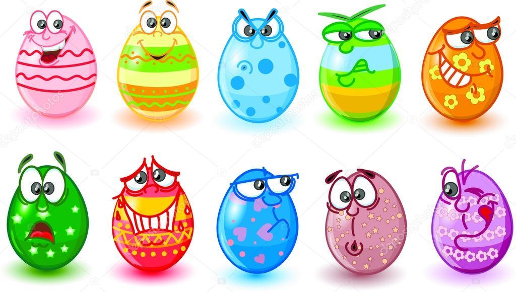 Cartone animato le uova di pasqua buona