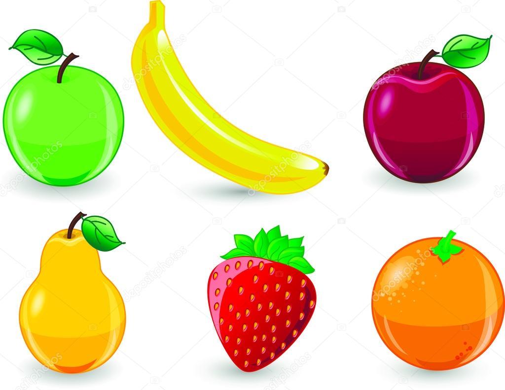 dibujos animados de frutas archivo imágenes vectoriales