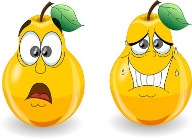 Pears with emotions