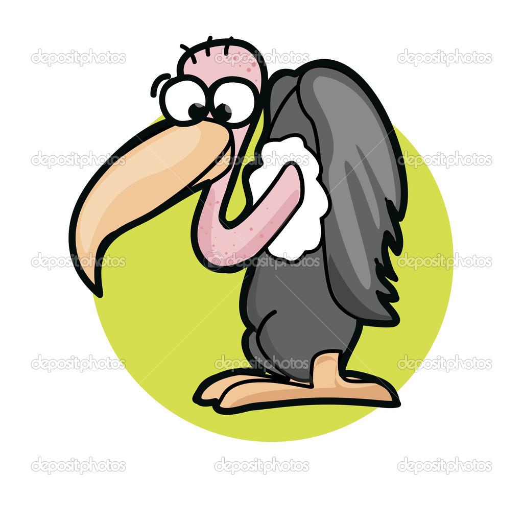 Cute Cartoon Vulture Stock Vector C Virinaflora 46269423