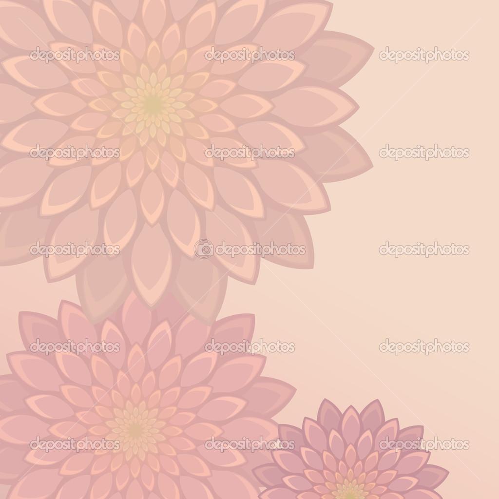 Light Flower Background Stock Vector Wacomka 13694639