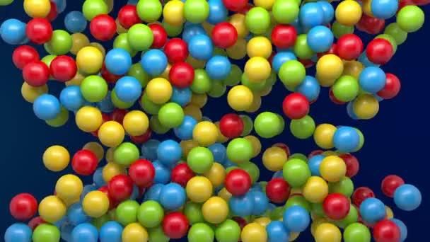 Tartozó színes golyókat intro háttér