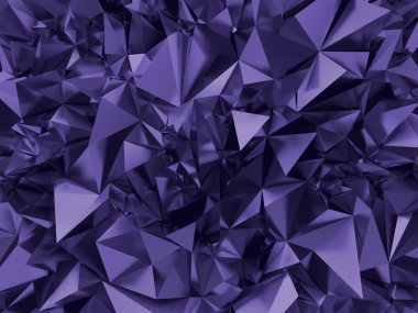 Abstract trendy ultra violet faceted background