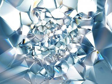 Abstract trendy clear brilliant crystal background