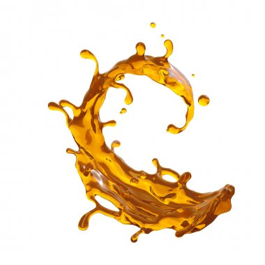 3d yellow liquid splash