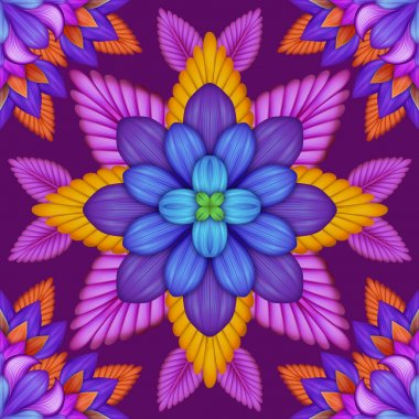 Abstract floral kaleidoscope