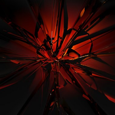 3d abstract red glass texture
