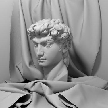 3d David portrait sculpture
