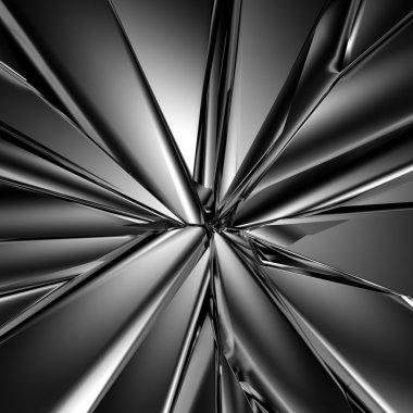 Futuristic crystal background