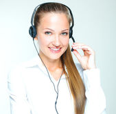 žena call centra operátor