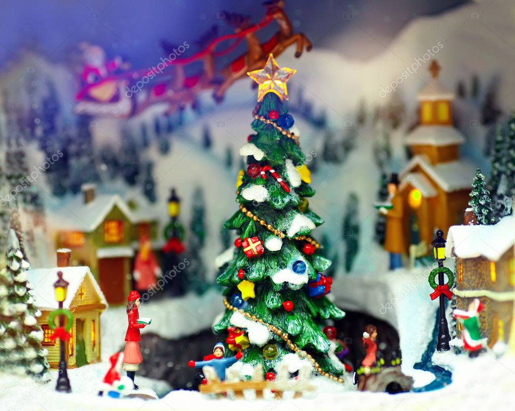 Toy christmas town