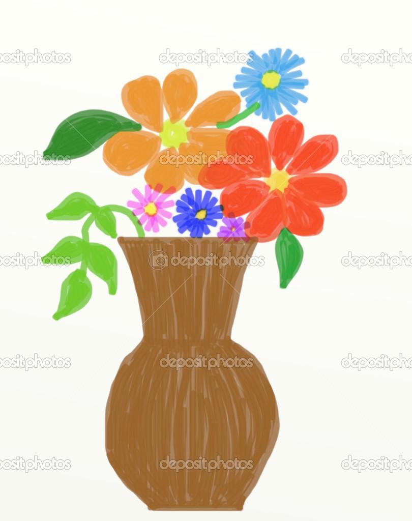 Atemberaubend Vase mit Blumen — Stockfoto © Anika388 #49097431 @VO_07