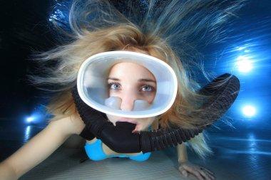 kadın scuba diver