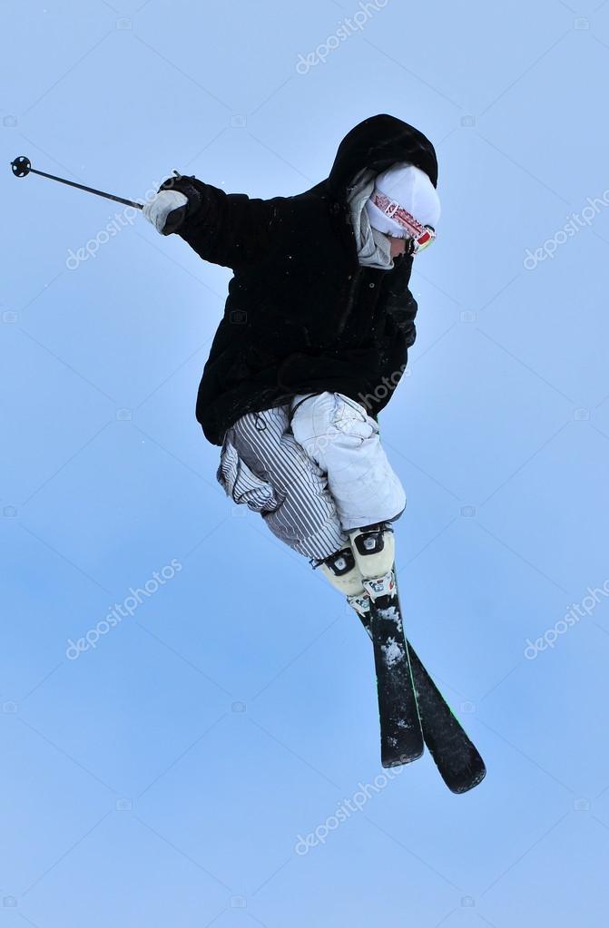 Elegant ski jump